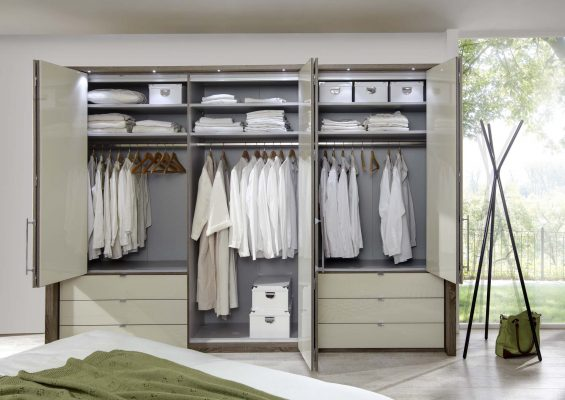 wardrobe with drawers cream types of wardrobe design